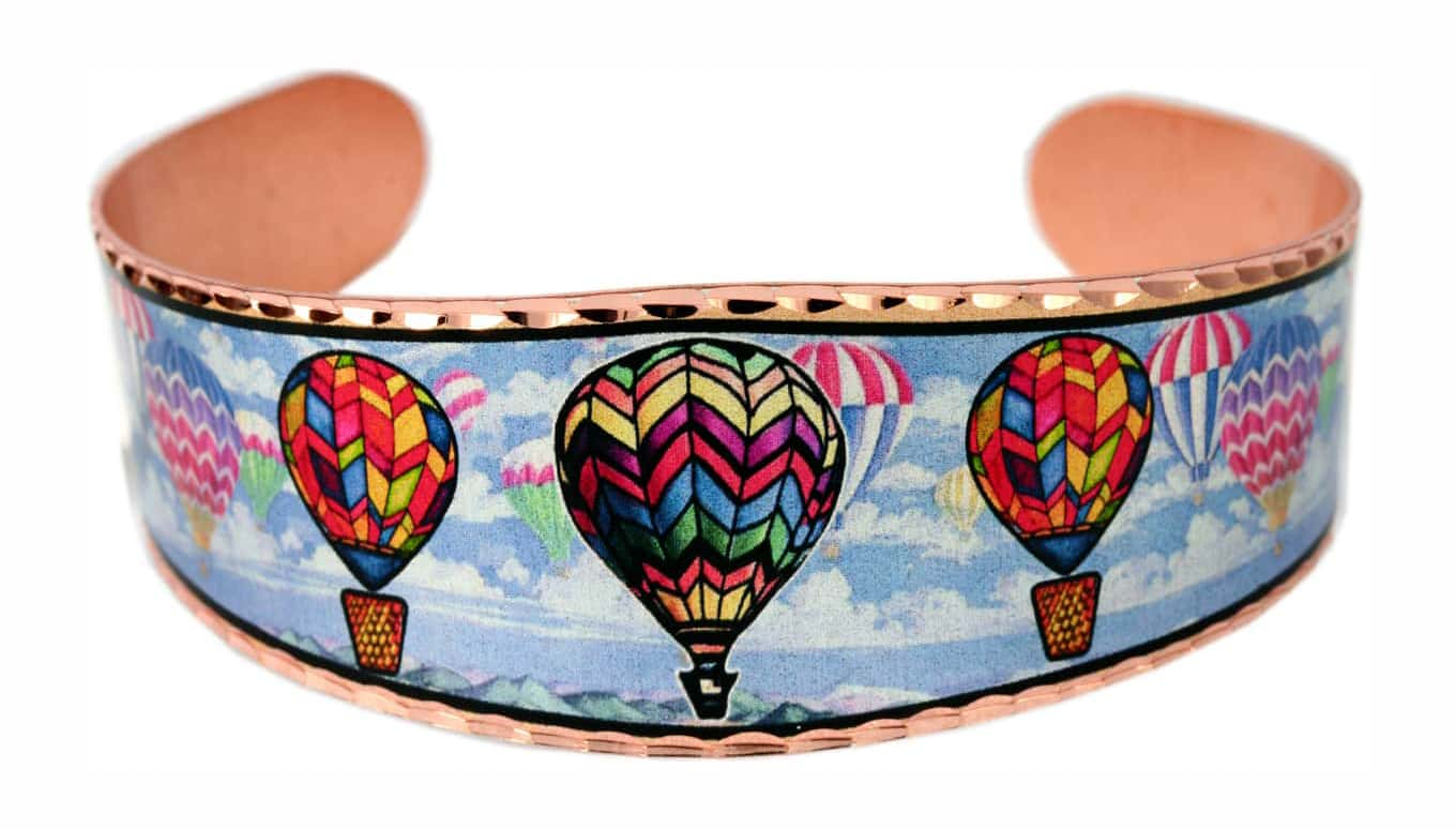 Colorful hot air balloons bracelet pretty and fun to wear