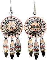 Native American sun dangle earrings handcrafted to perfection by the skilled artisans of Copper Reflections