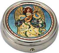 Unique handmade gift ideas for women, colorful angel pill box