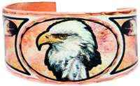 Buy bald eagle rings created from watercolor artwork by Lynn Bean