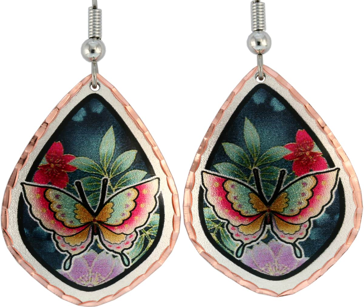 Amazing colorful butterfly earrings will flatter your beautiful lovely look
