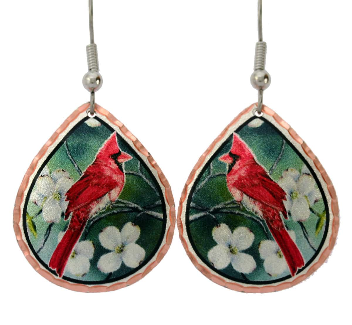 Colorful Cardinal Earrings Y-31