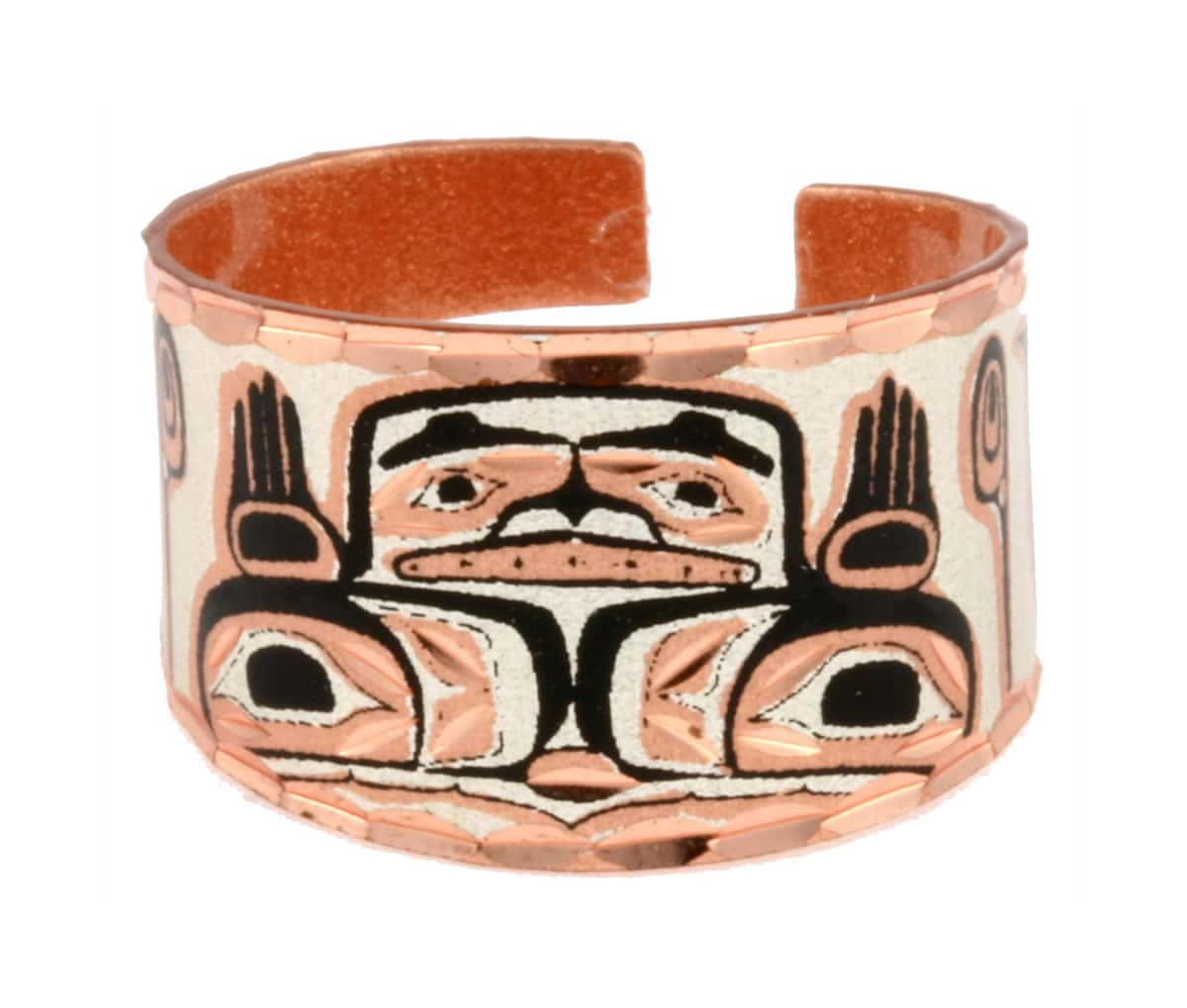 Buy adjustable handmade jewelry copper rings created in Native Haida design