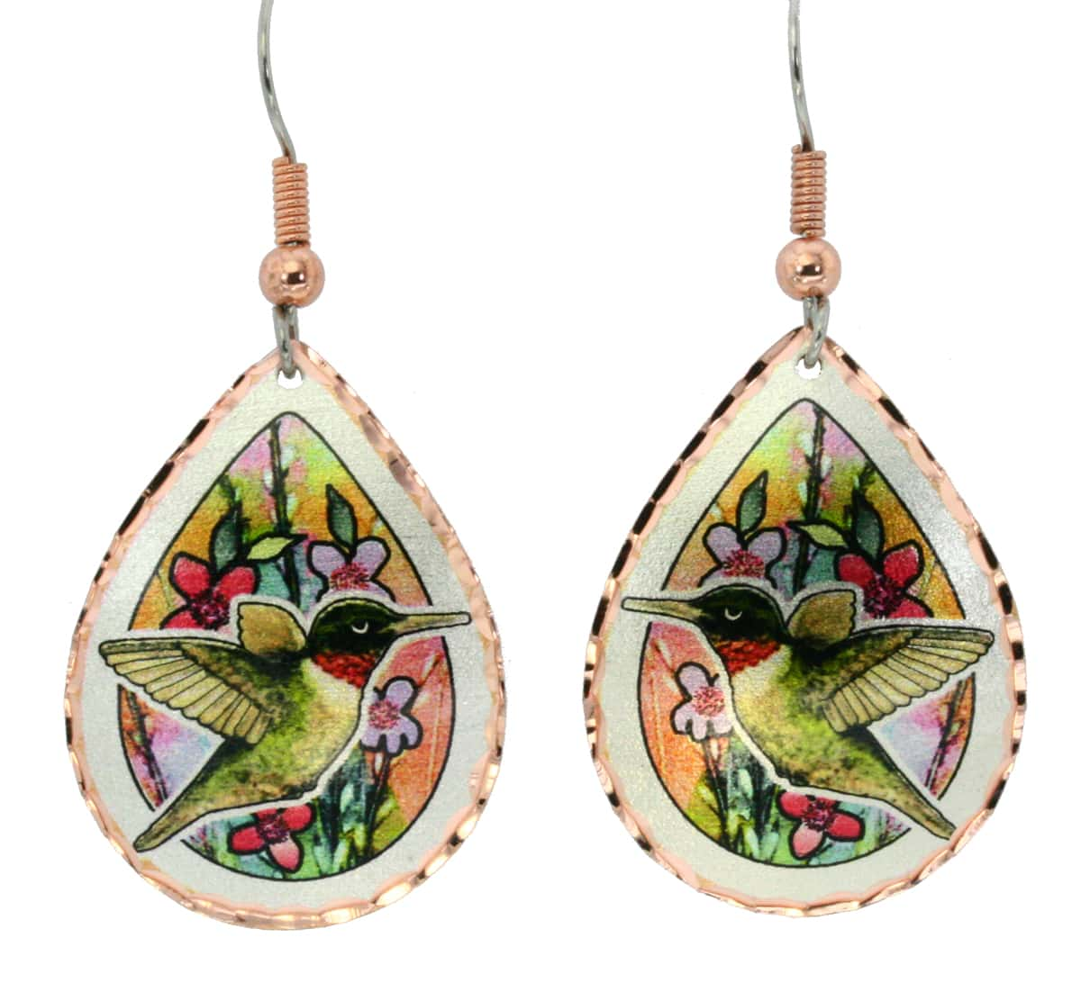 Original and brightly colored hummingbird earrings to impress everyone