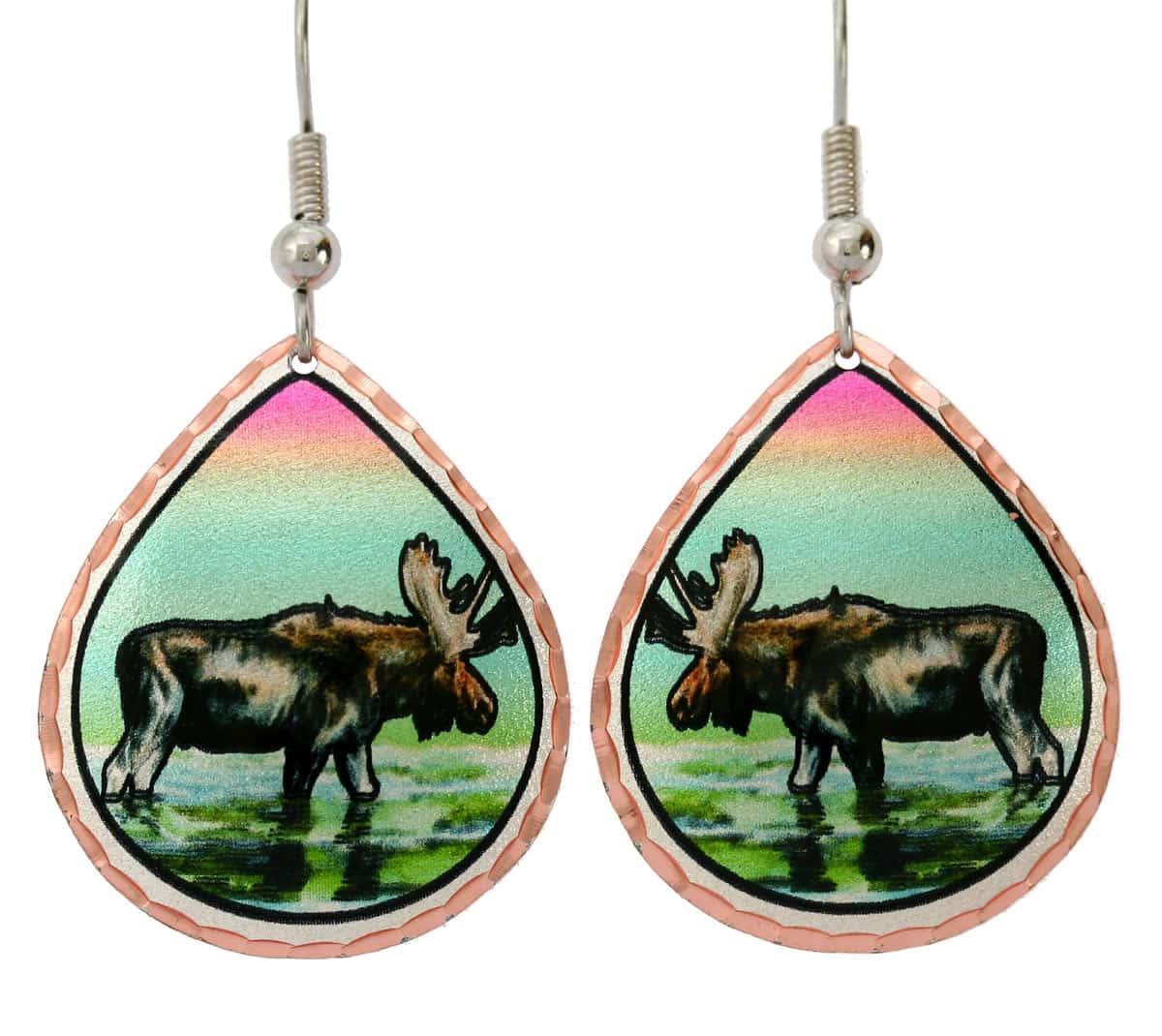 Moose Earrings Y-47