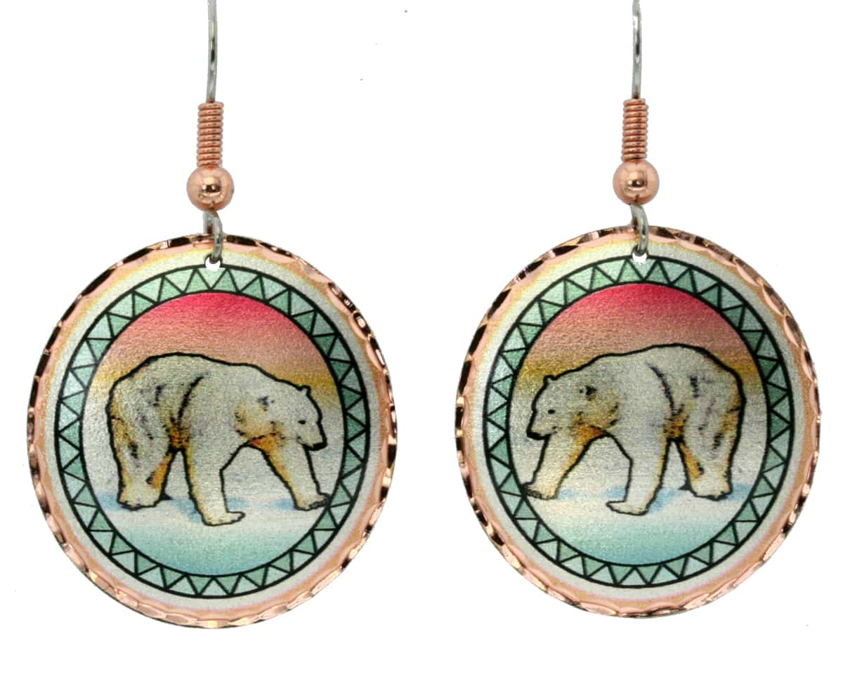 Colorful polar bear earrings, the perfect handmade jewelry for any outfit