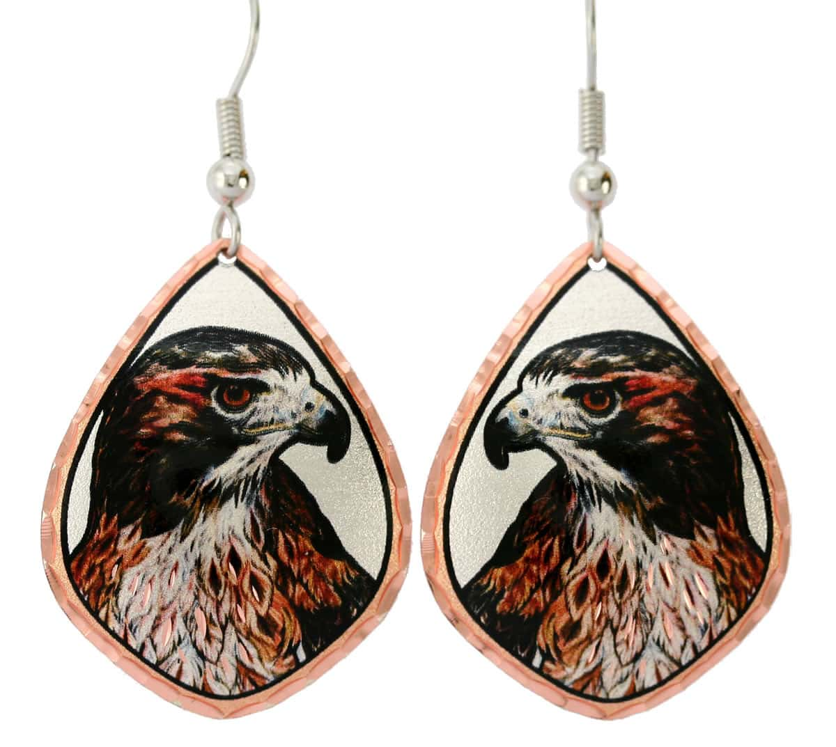 Red hawk earrings created in gorgeous design that never goes out of fashion