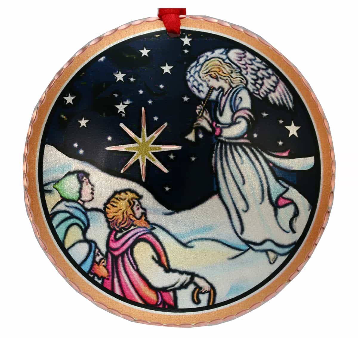 Buy Colorful Angel and Shepherds Christmas Tree Ornament