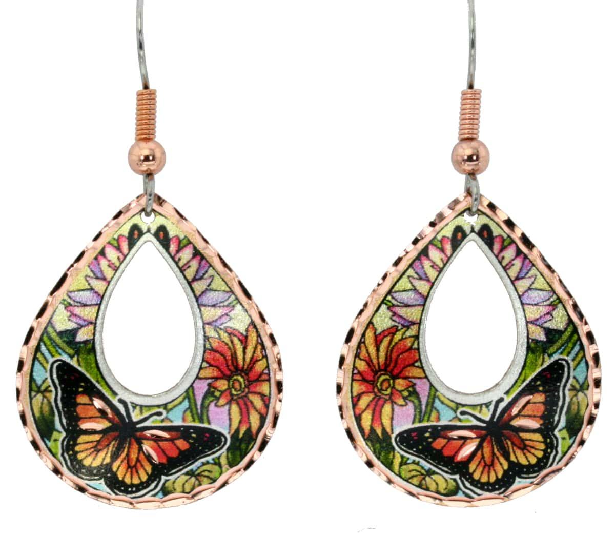 Beautiful monarch butterfly earrings