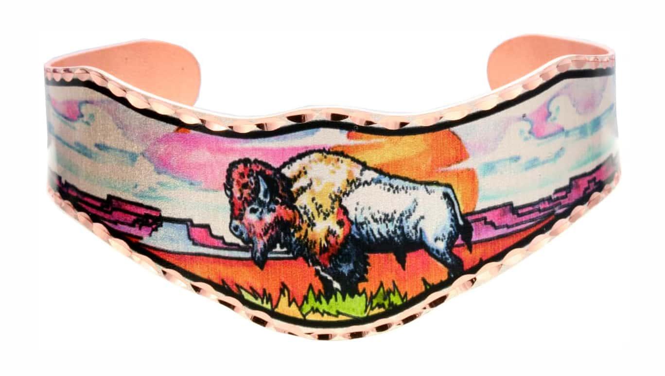 Wholesale Art Jewelry, Buffalo Bracelet Designed by Lynn Bean