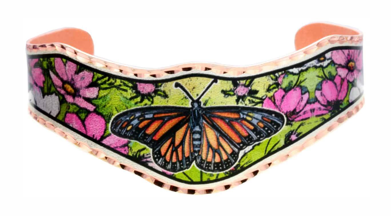Buy Gorgeous Monarch Butterfly Bracelet, Handmade Art Jewelry