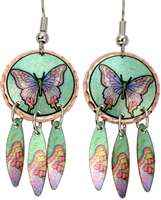 Buy dangle butterfly earrings stylish & safe to wear with surgical steel ear wires