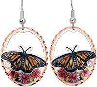 Butterfly Earrings in Cut Out Colorful Design