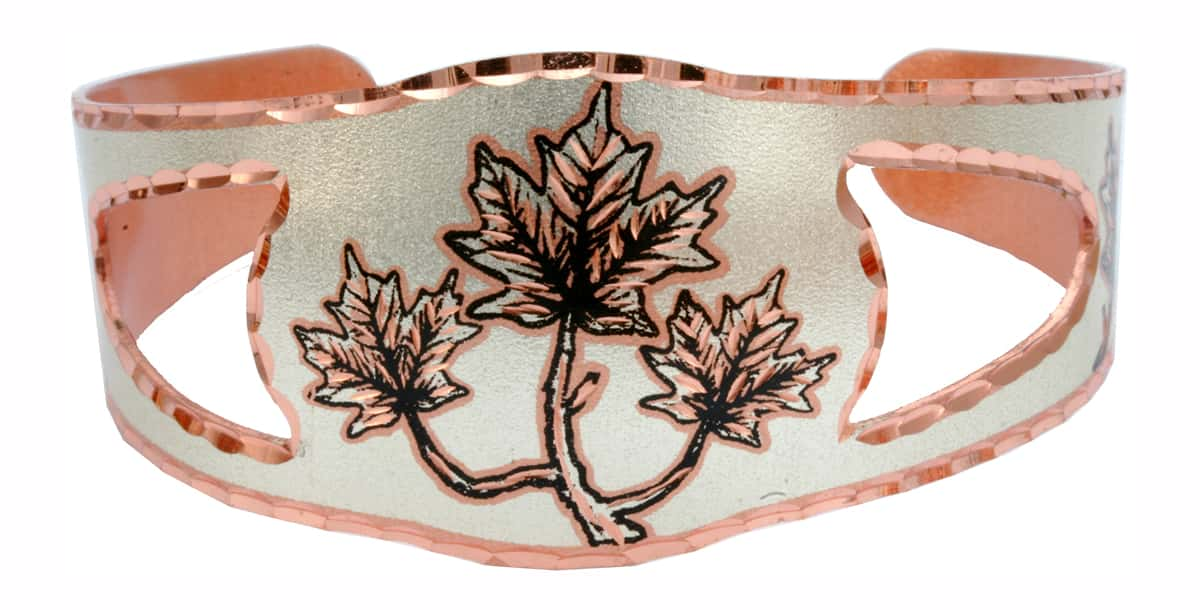 Buy Canadian jewelry maple leaf bracelet, Copper Reflections offering the best affordable handmade jewelry.