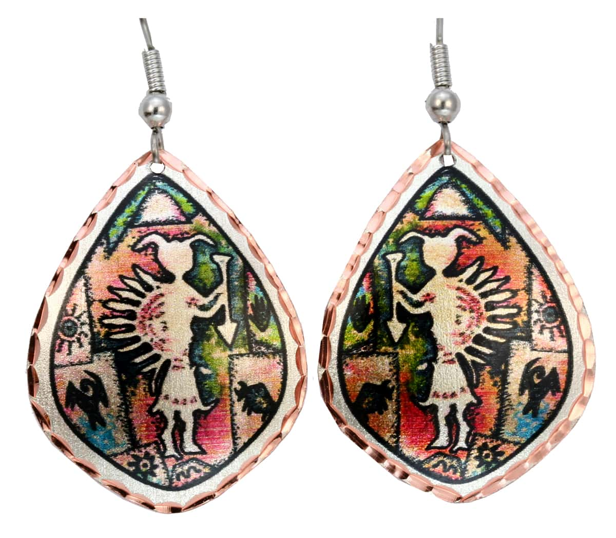 Buy Native American Inspired Cave Painting Earrings