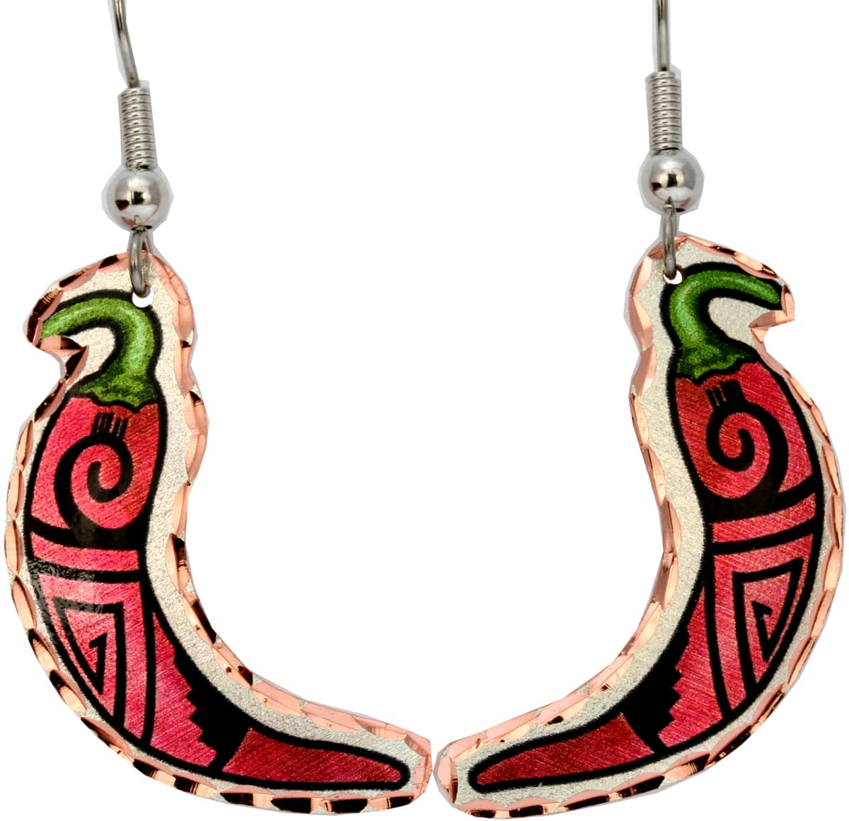 Red chili pepper earrings for women who love Southwestern fashion