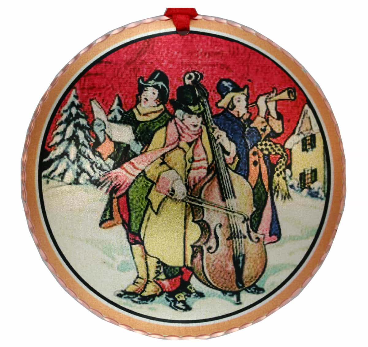 Christmas Carolers Tree Ornaments