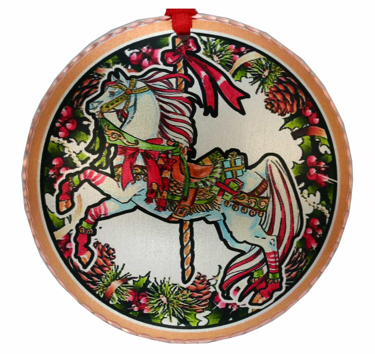 Colorful Carousel Horse Christmas Tree Ornament
