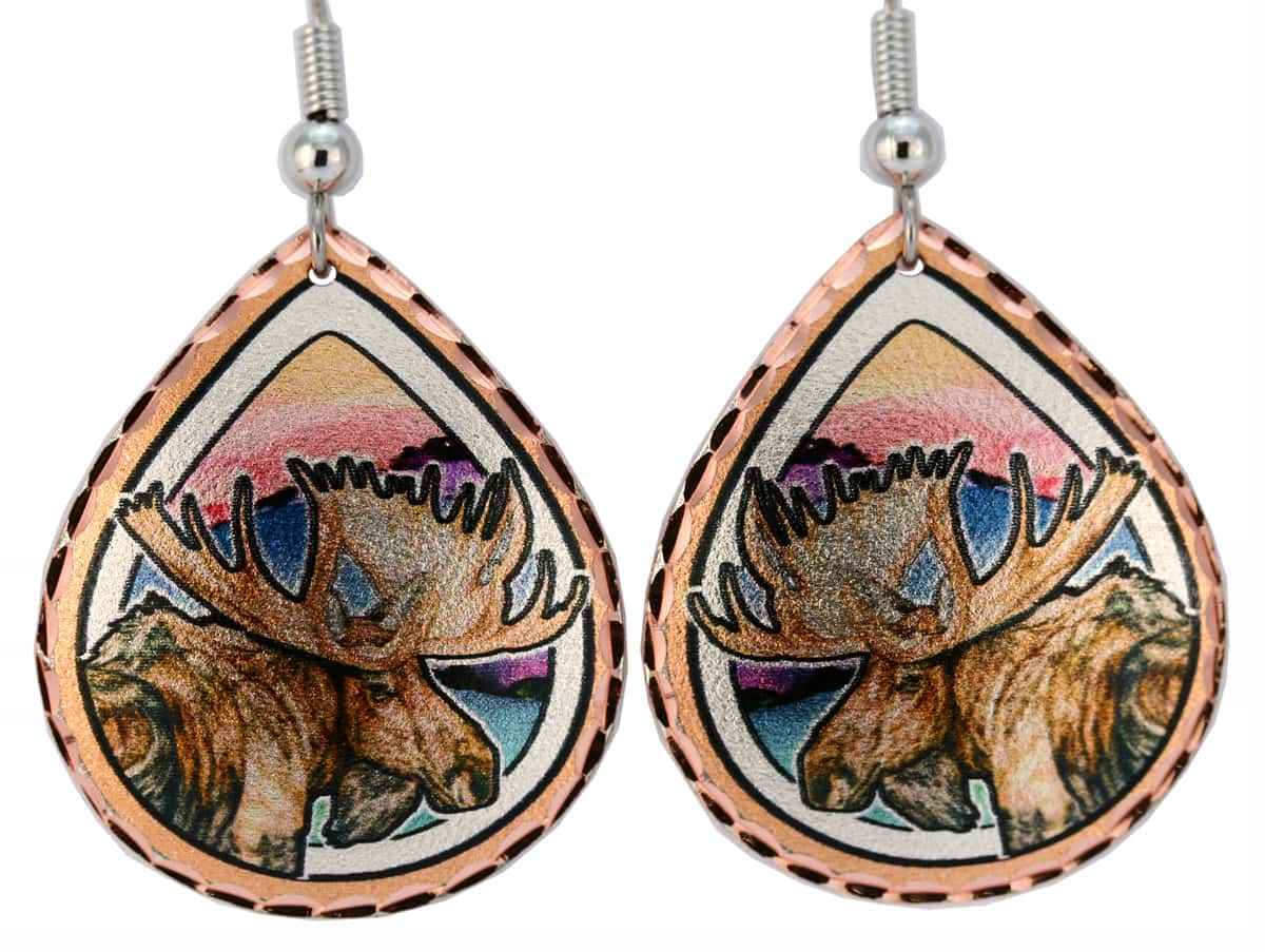 Wholesale Colorful Art Jewelry, Handmade Moose Earrings