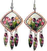 Buy dangle colorful tulips earrings perfect choice for women who love nature