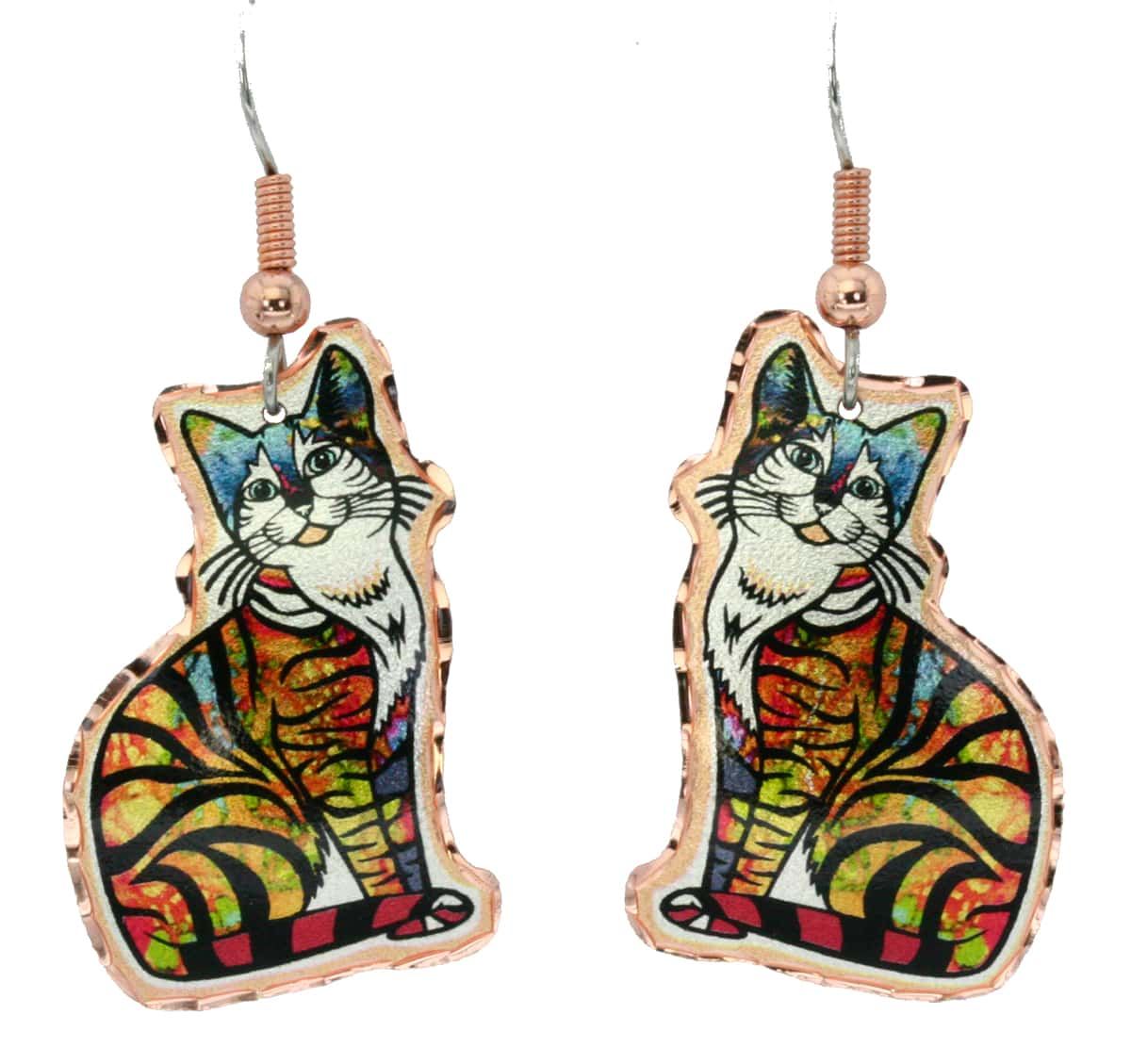 Cut Out Tabby Cat Earrings, Special Gifts for Cat Lovers