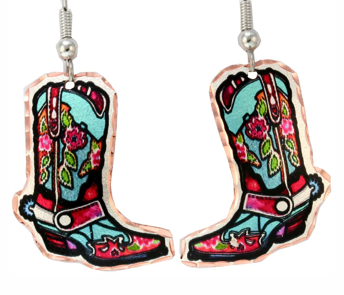 Cut out Cowboy Boot Western Earrings
