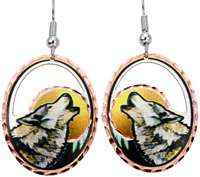 Buy original cut out wolf earrings, Copper Reflections is the best online shop for affordable handmade jewelry
