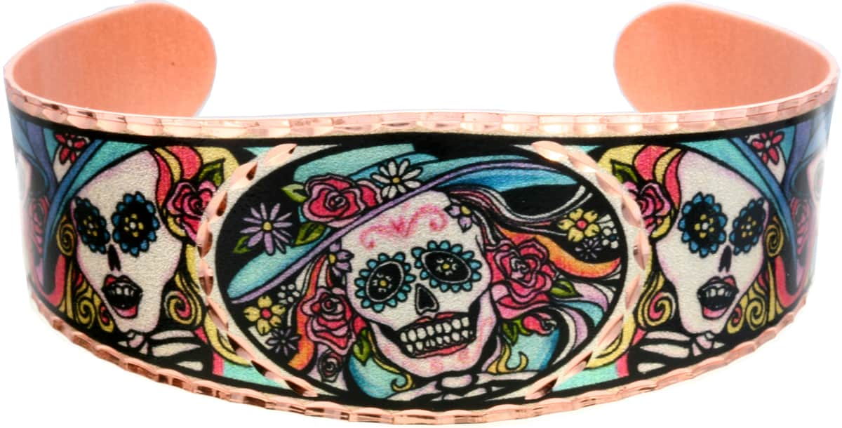 Day of the dead bracelets made in vibrant colors fun to wear