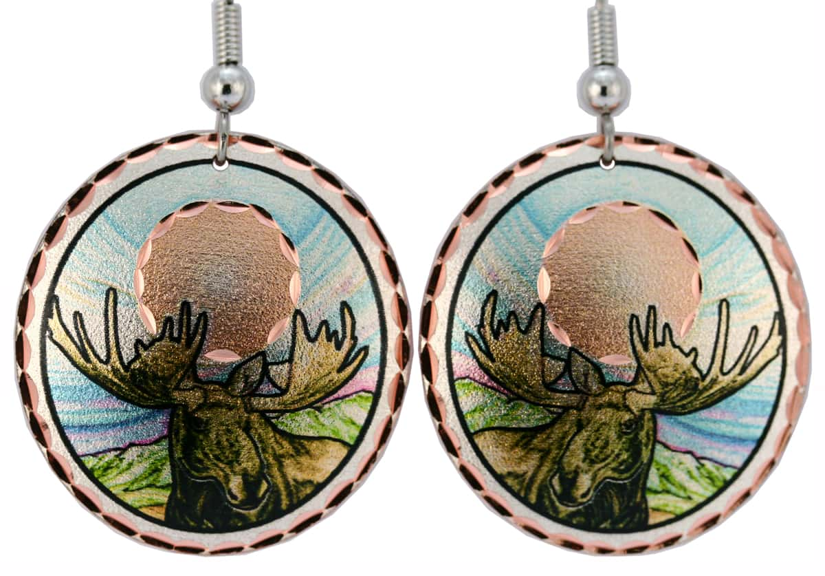 Buy Colorful Art Jewelry Moose Earrings