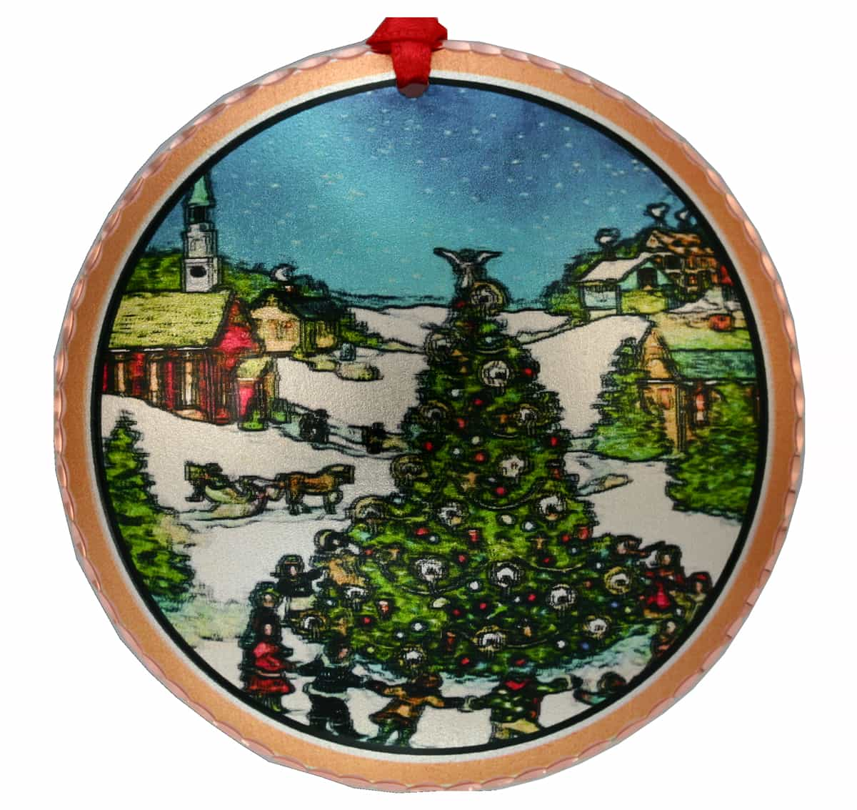 Handmade Christmas Tree Ornament Created in Town Square Tree Design