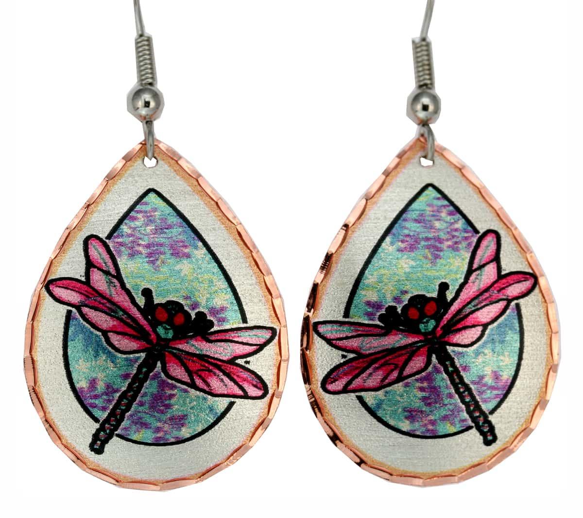 Jo Lynch Art Jewelry, Dragonfly Earrings