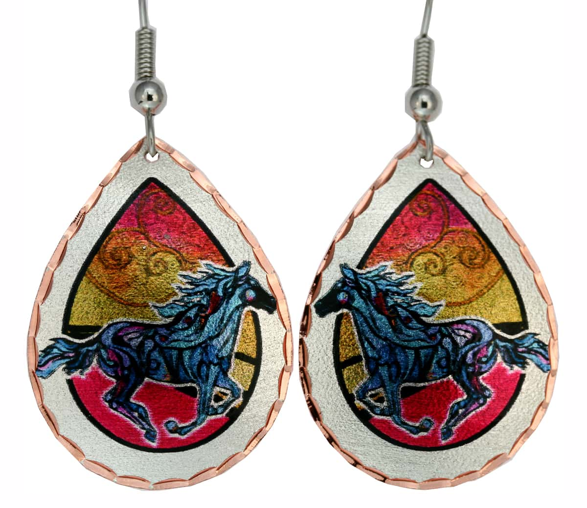 Jo Lynch's Art Jewelry, Horse Earrings