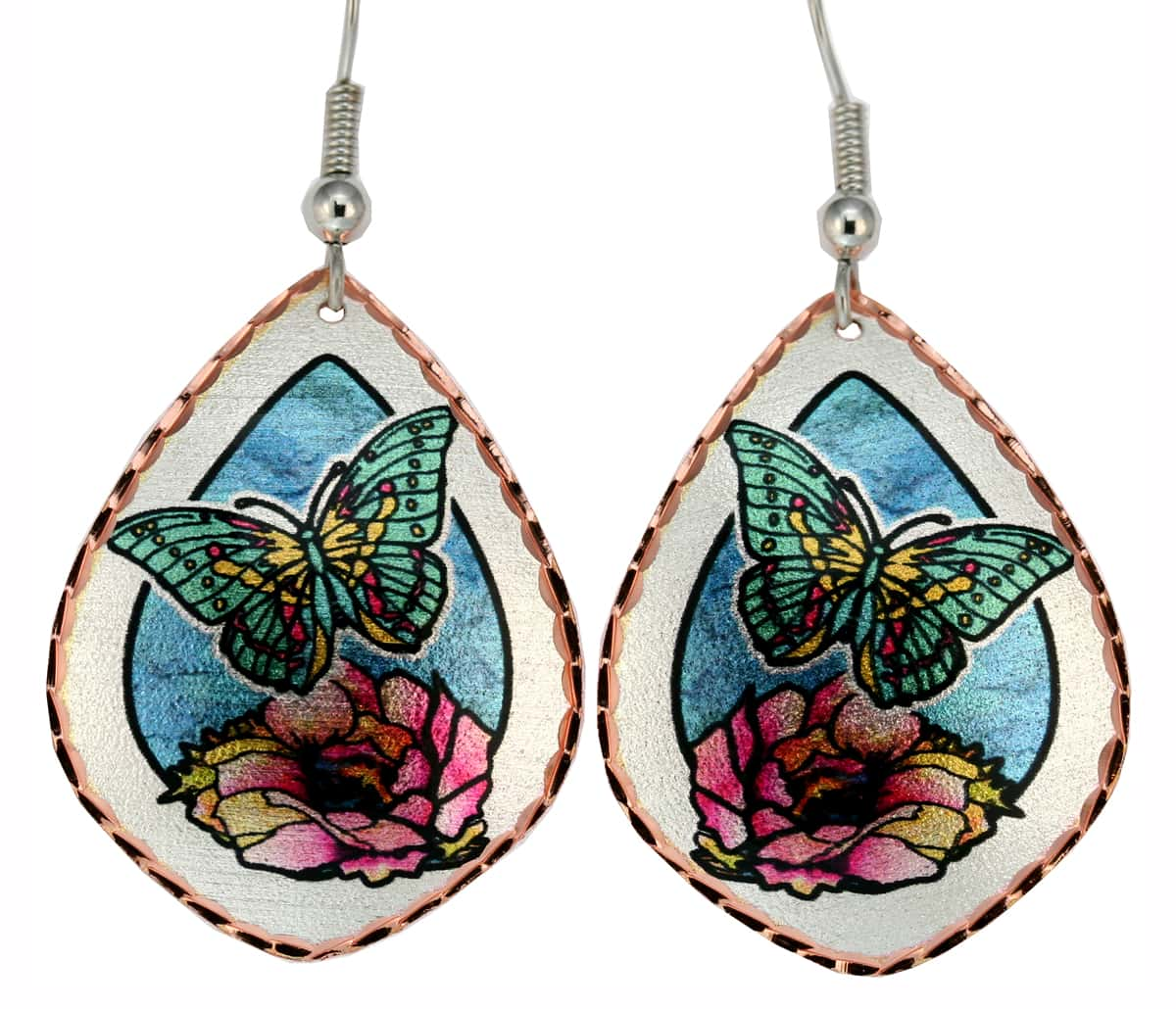 Flowers and Butterfly Earrings JL-23