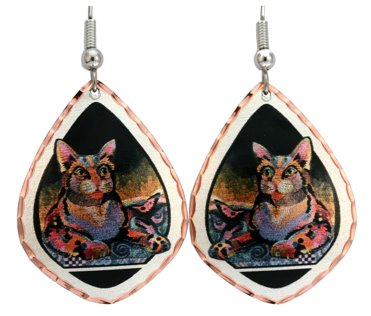 Maximillian Cat Earrings Designed by Bob Coonts