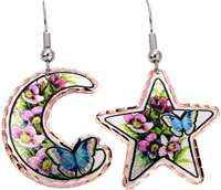 Buy moon and star butterfly earrings for a fashionable and feminine look