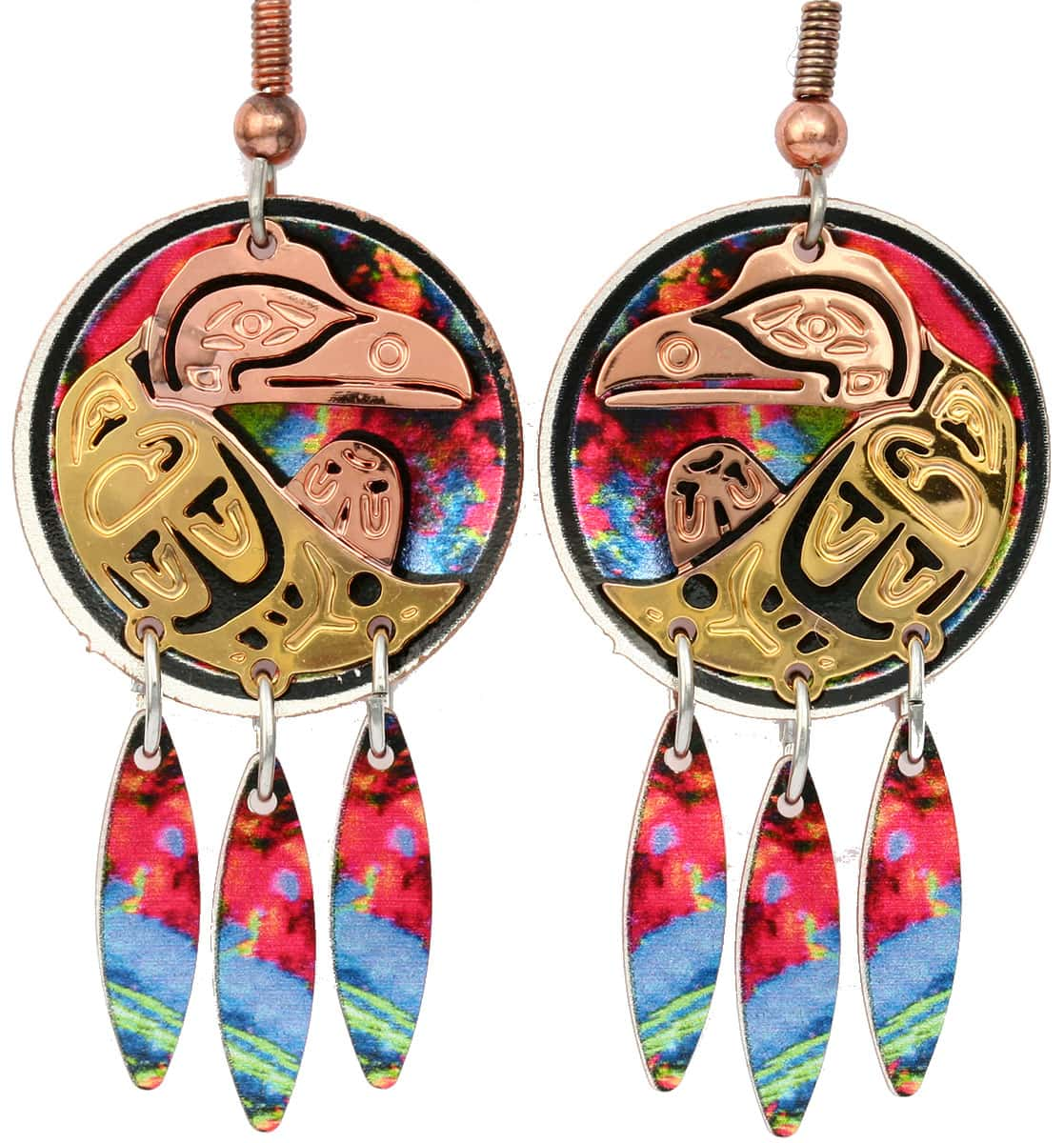 Cut out Native Haida raven earrings will make you feel special, unique, and sophisticated