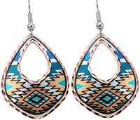 Wear Native earrings with colorful highlights will make you feel intelligent