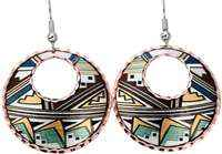 Native Southwest earrings with colorful accents