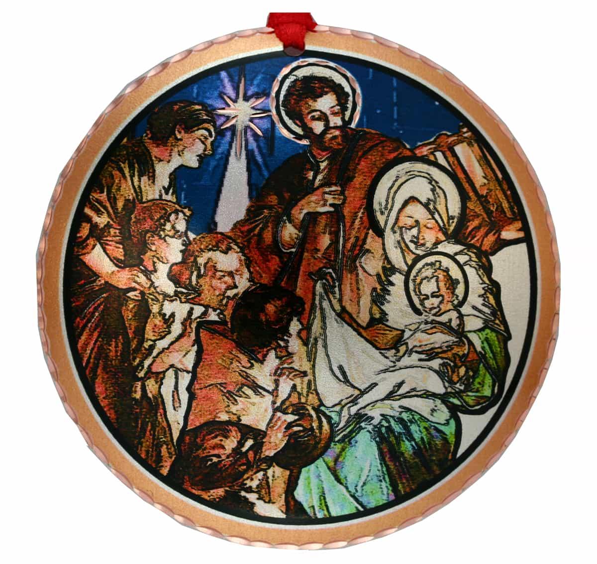 Nativity Scene Handmade Christmas Tree Ornaments