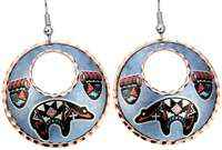 SW Native fetish bear and paws earrings for women
