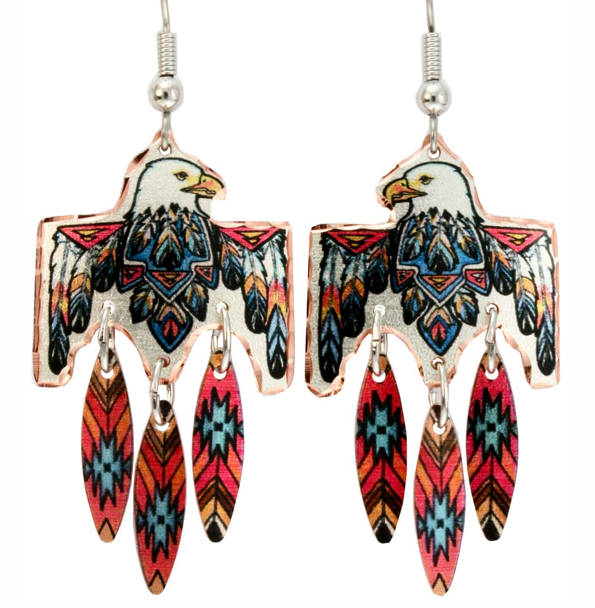 Buy Magnificent SW Native Eagle Earrings with Feather Dangles