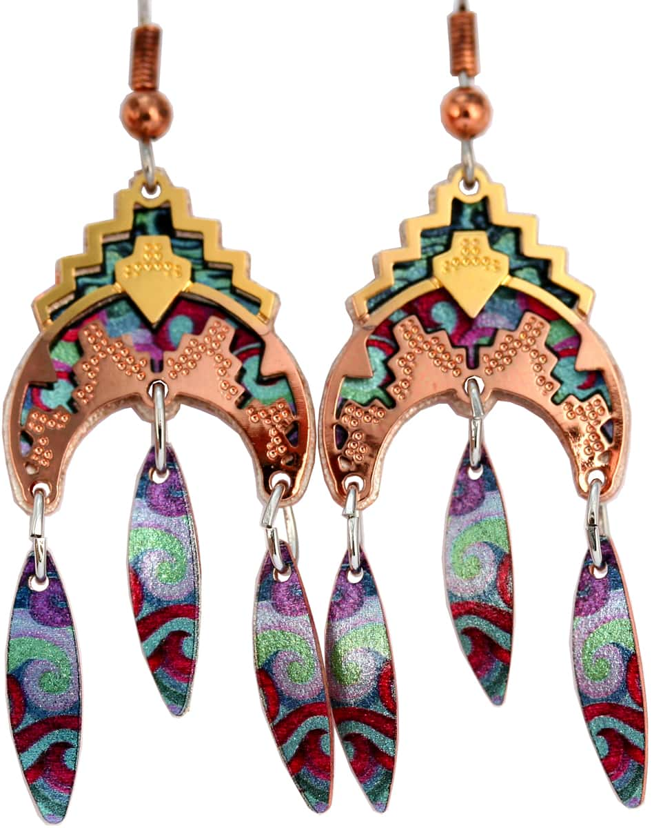 Southwest Native American Cut out dangle earrings, wholesale unique jewelry that you can not find anywhere else