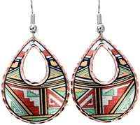 Southwest Native earrings with colorful highlights