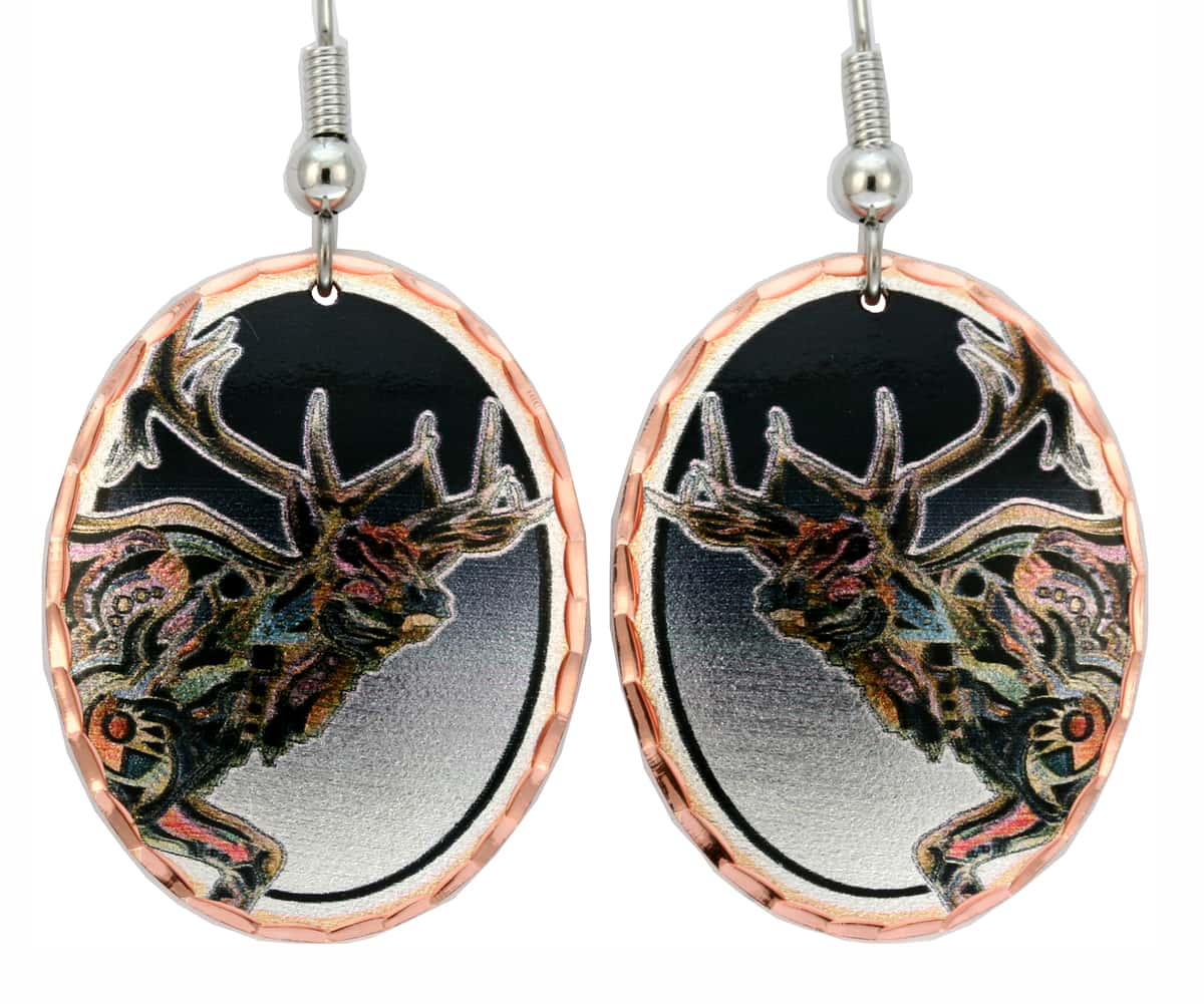Southwestern Elk Earrings Bob Coonts
