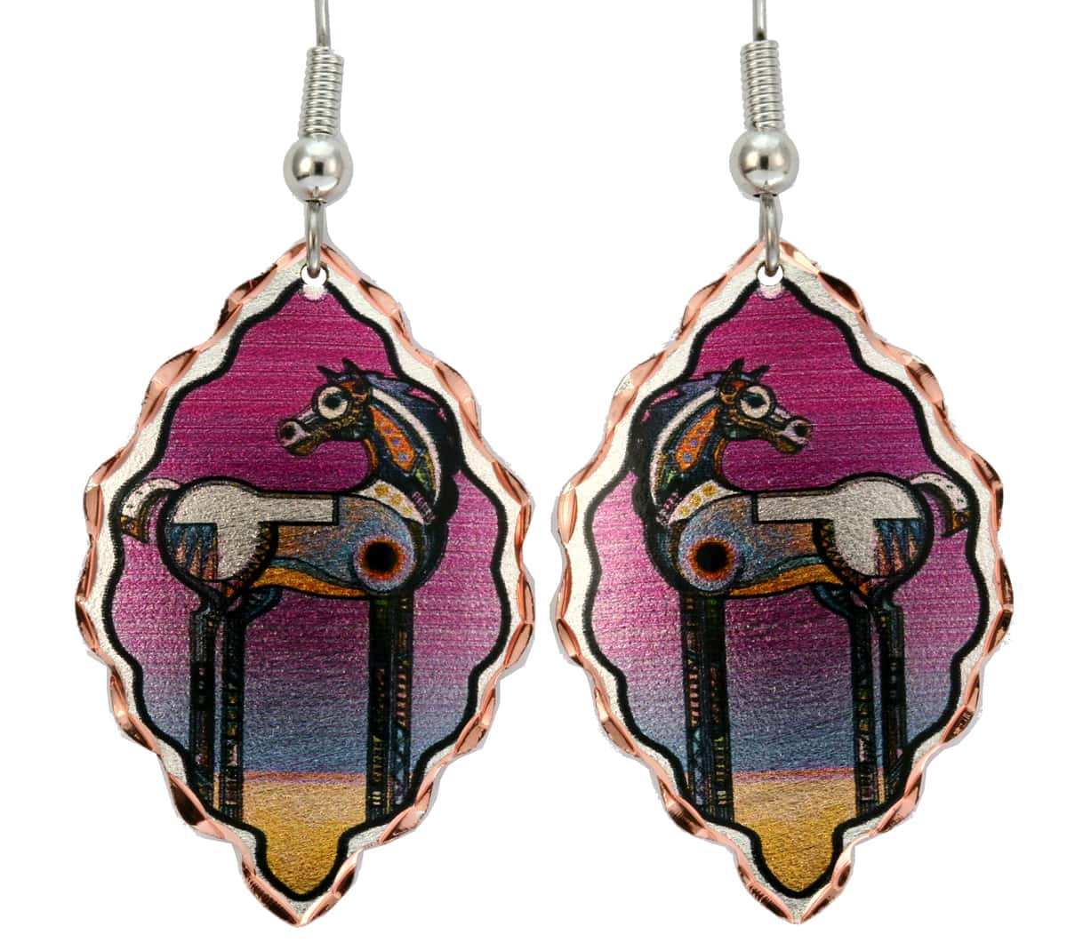 Spirit Stallion Horse Earrings by Bob Coonts