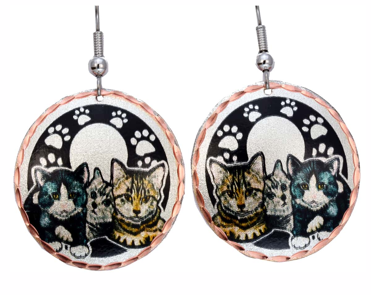 Three Cats Earrings For Women Who Love Cats