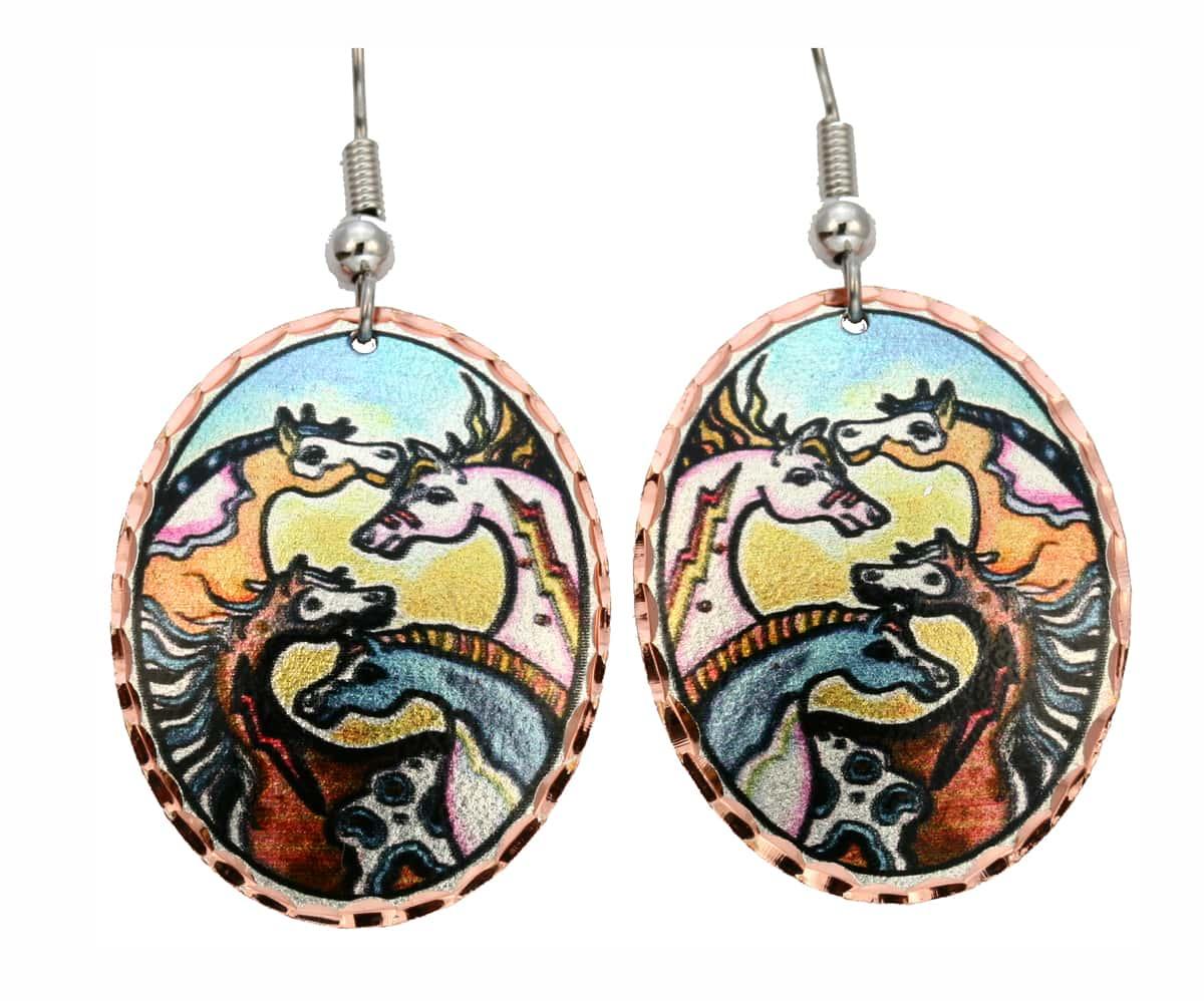 Western Style Horse Earrings LD-178