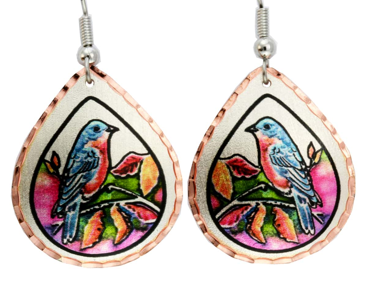Buy Teardrop Bird Earrings