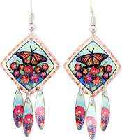 Inspiring dangle butterfly earrings perfectly accents your beauty and taste
