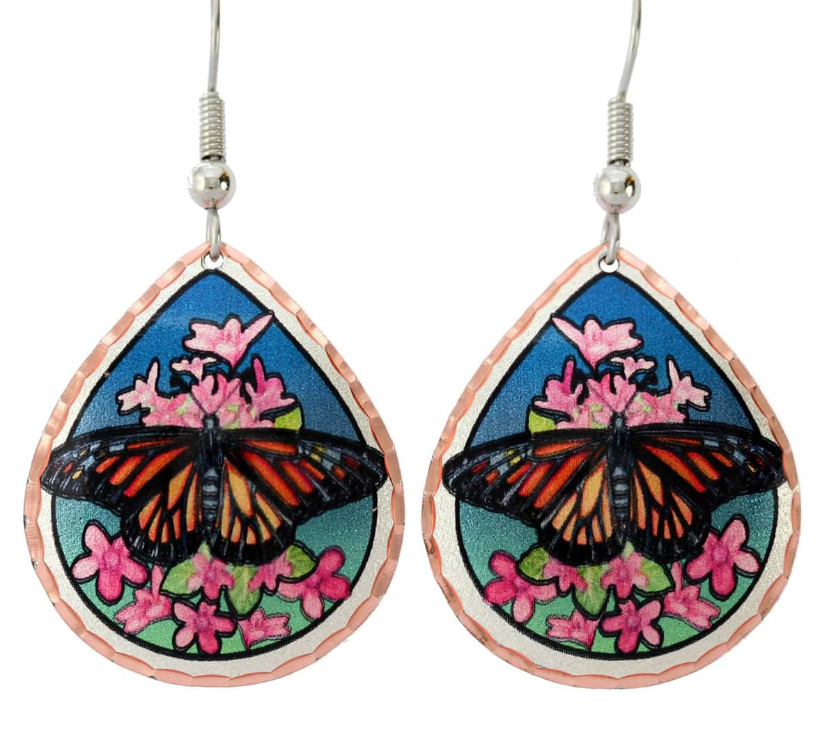 Colorful Butterfly Jewelry, Handcrafted Earrings